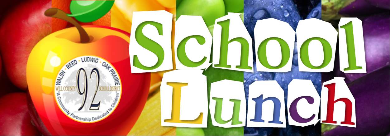 School Lunch Banner Colorful